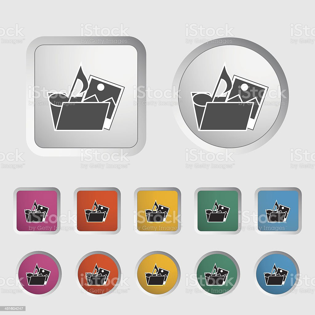 Folder icon. royalty-free stock vector art