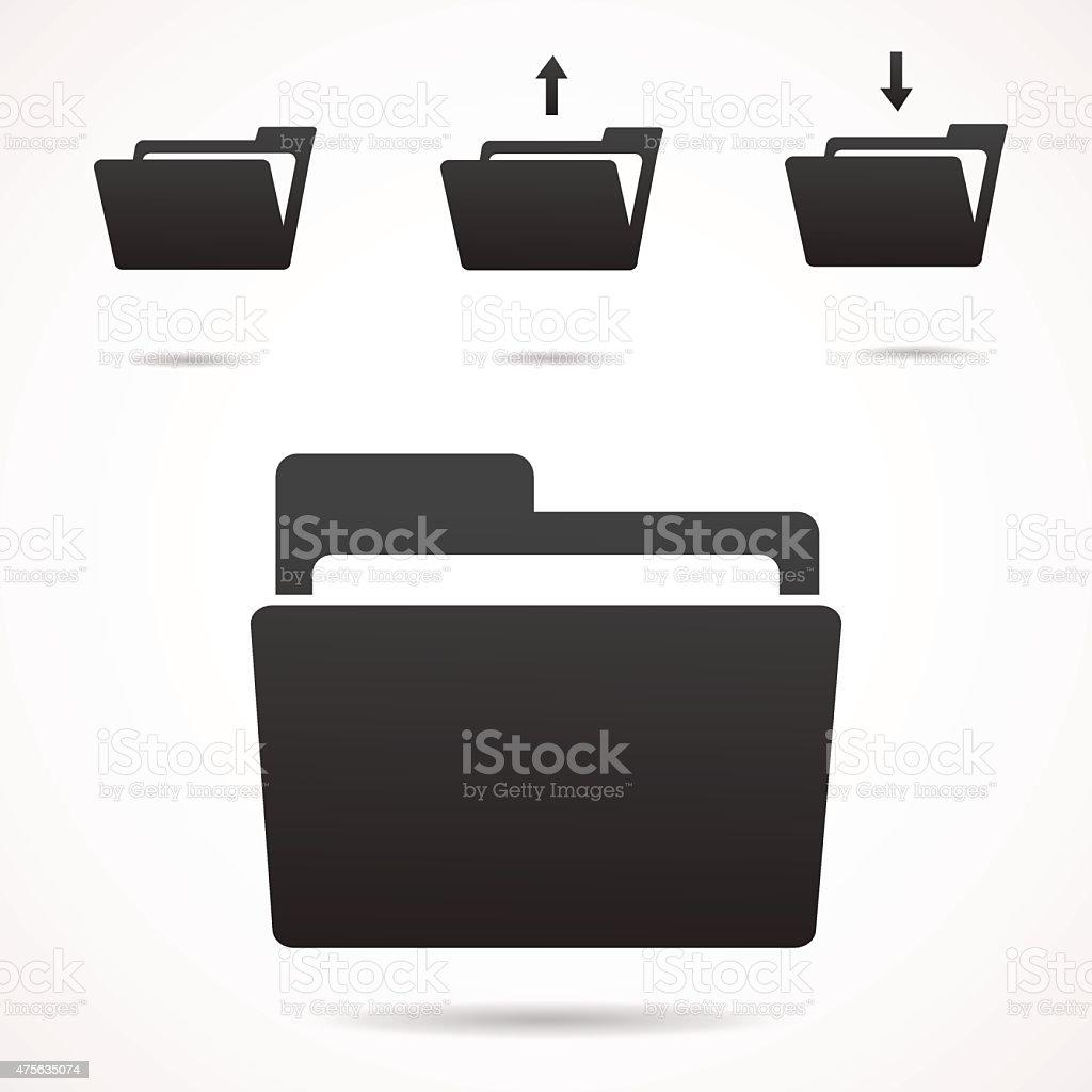 Folder icon. vector art illustration