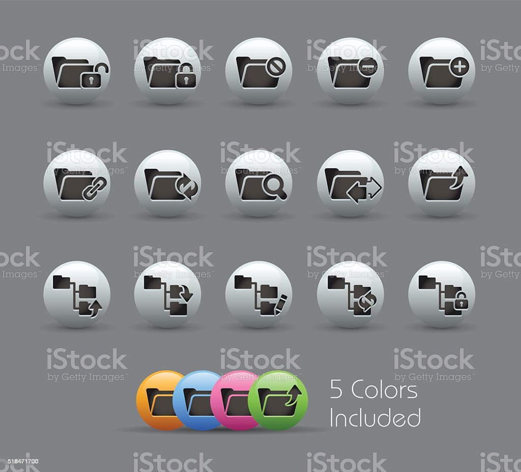 Folder Icons 1 of 2 - Pearly Series vector art illustration