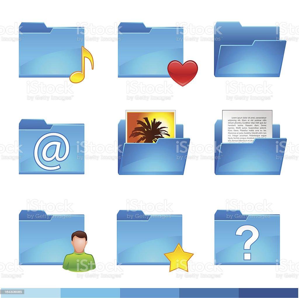folder icons set royalty-free stock vector art