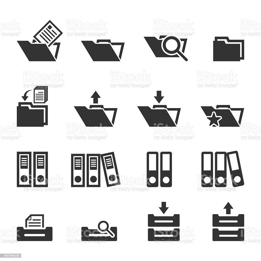 Folder icons set,Vector EPS10. vector art illustration