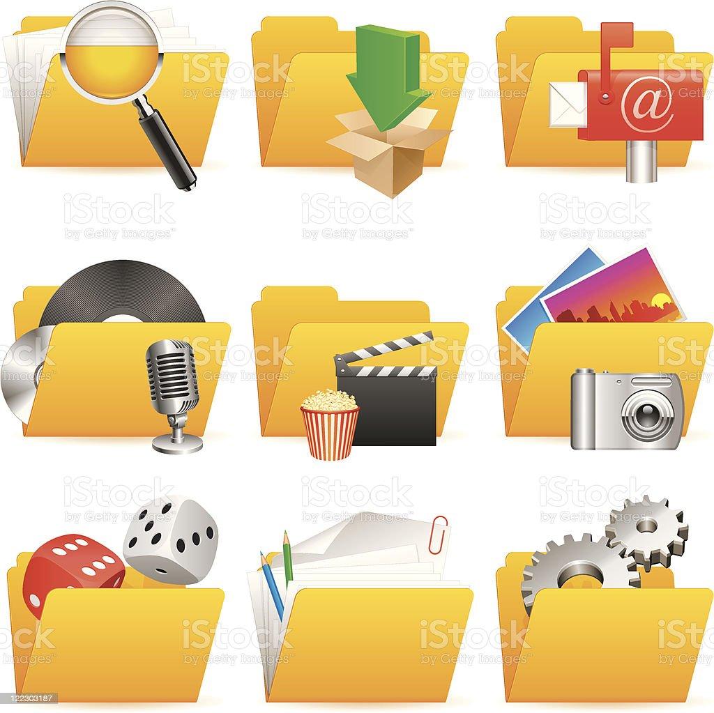 Folder icons. royalty-free stock vector art