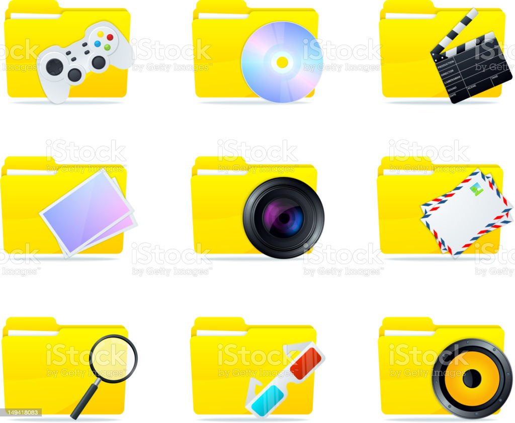 Folder icons royalty-free stock vector art