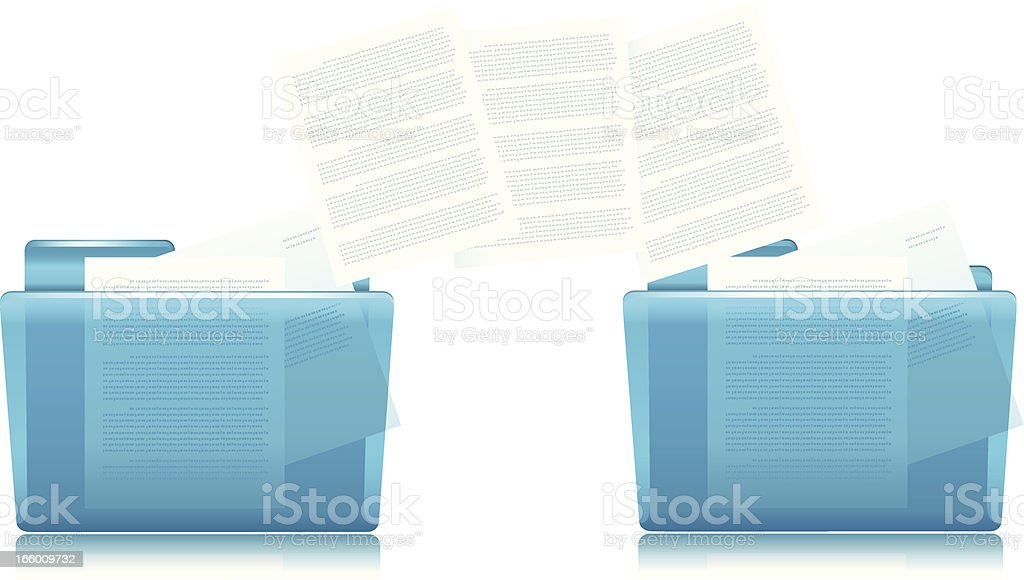 Folders and Files Copying royalty-free stock vector art