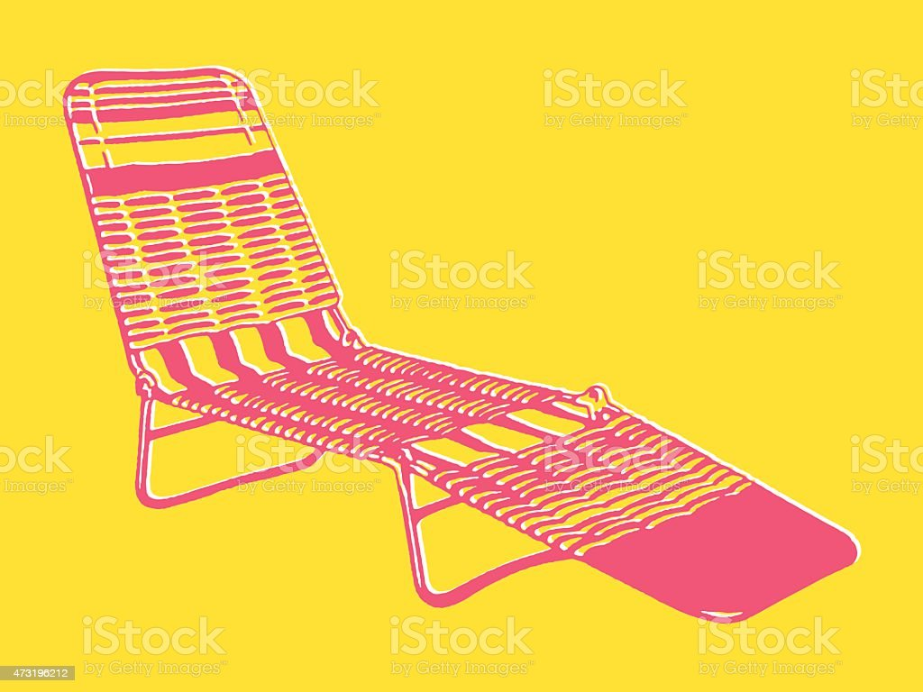 Folding Lawn Chair vector art illustration