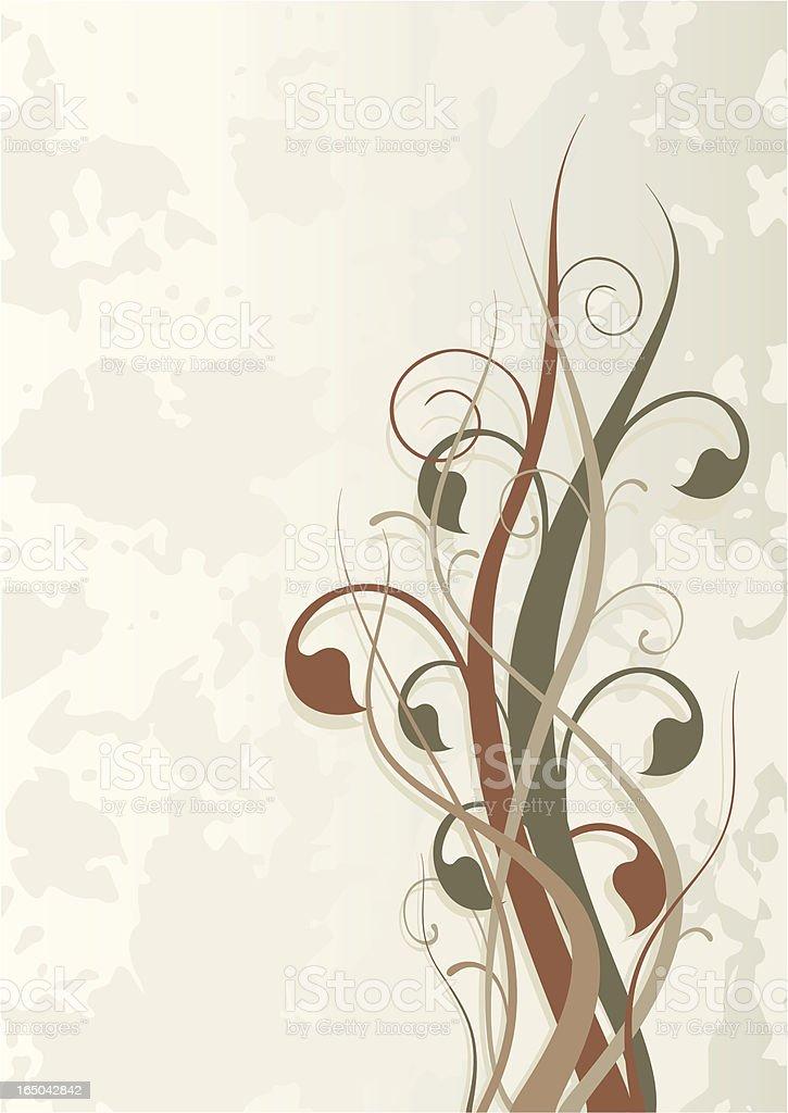Foliage on grunge background royalty-free stock vector art