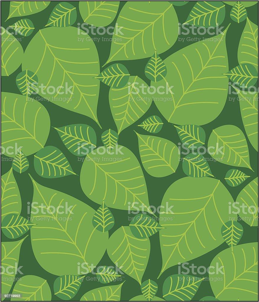 foliage seamless pattern vector art illustration
