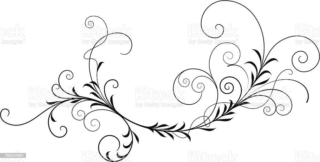 Foliate Filigree vector art illustration