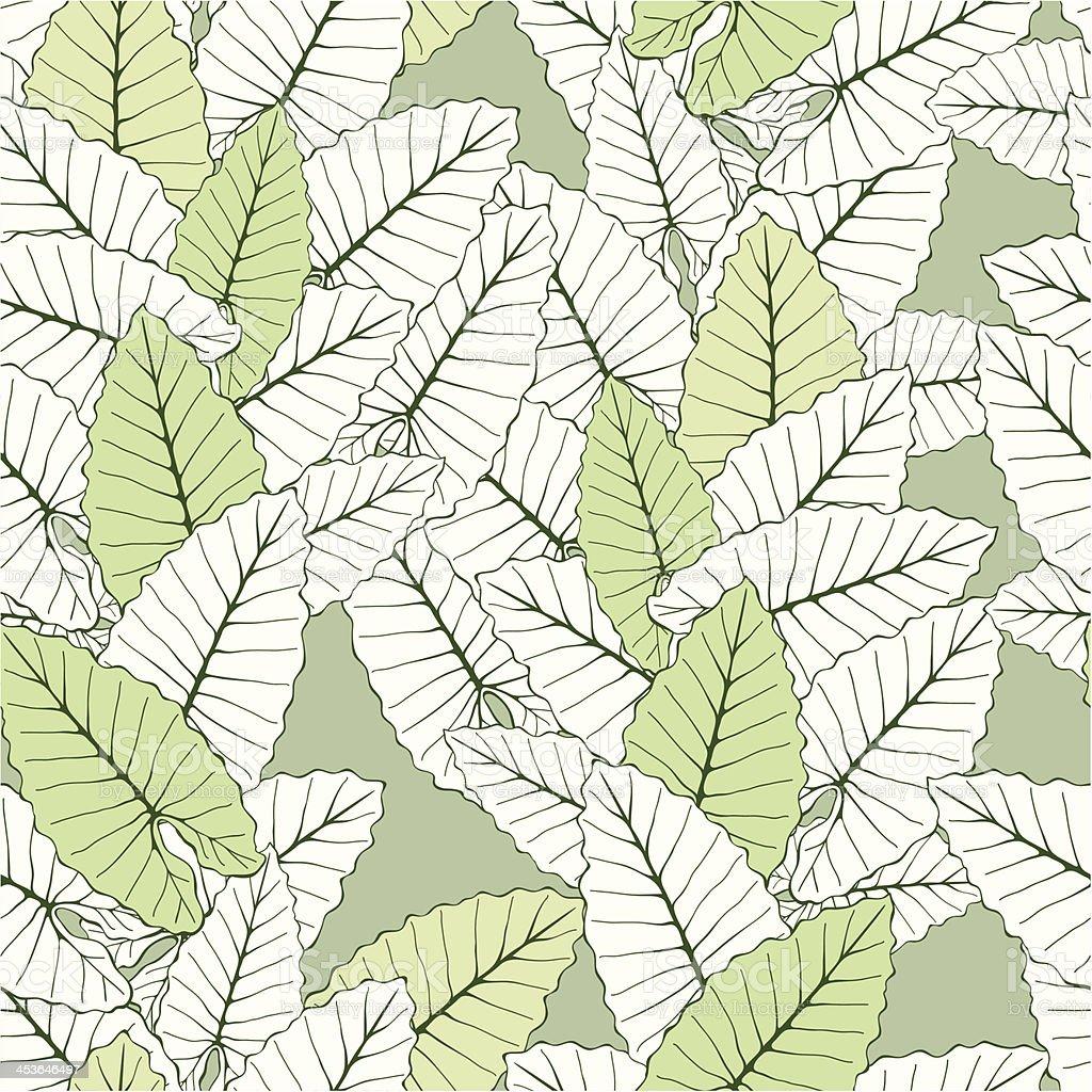 Foliate seamless ornament vector art illustration