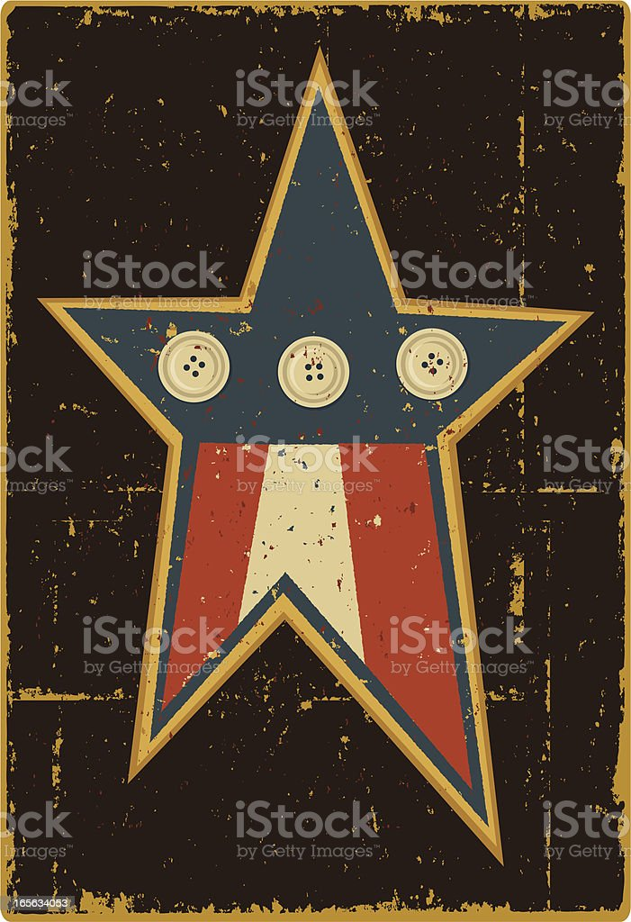 Folk Art Star royalty-free stock vector art