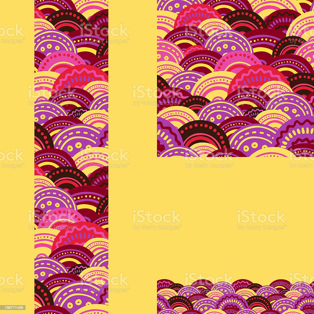 Folk Decor Waves Seamless Pattern royalty-free stock vector art