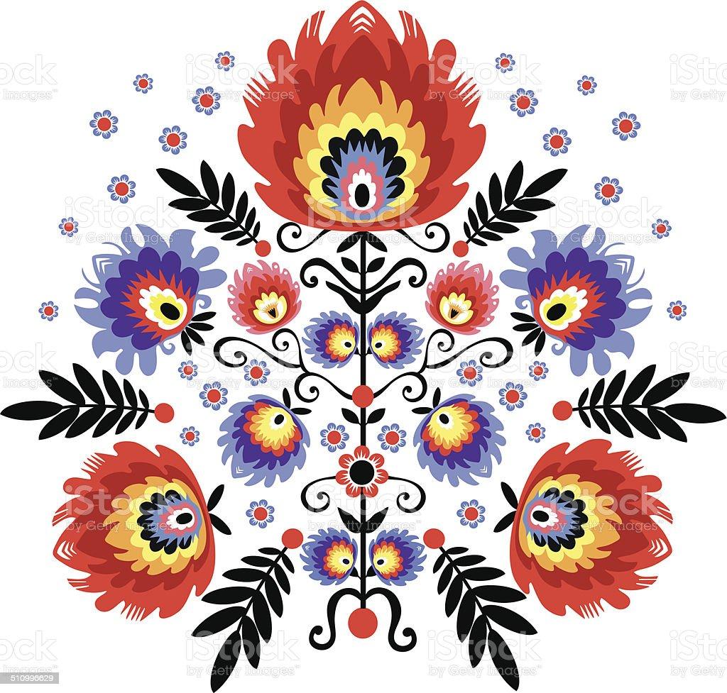 Folk embroidery vector art illustration