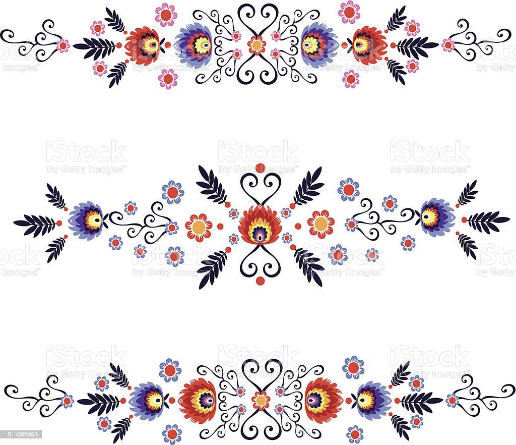Folk Label vector art illustration