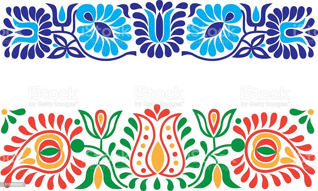 Folk ornaments vector art illustration