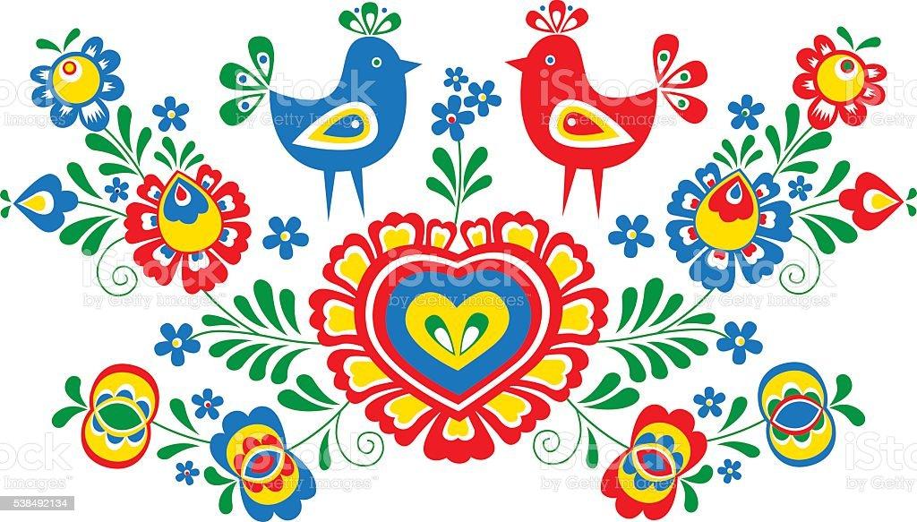 Folk ornaments vector art illustration