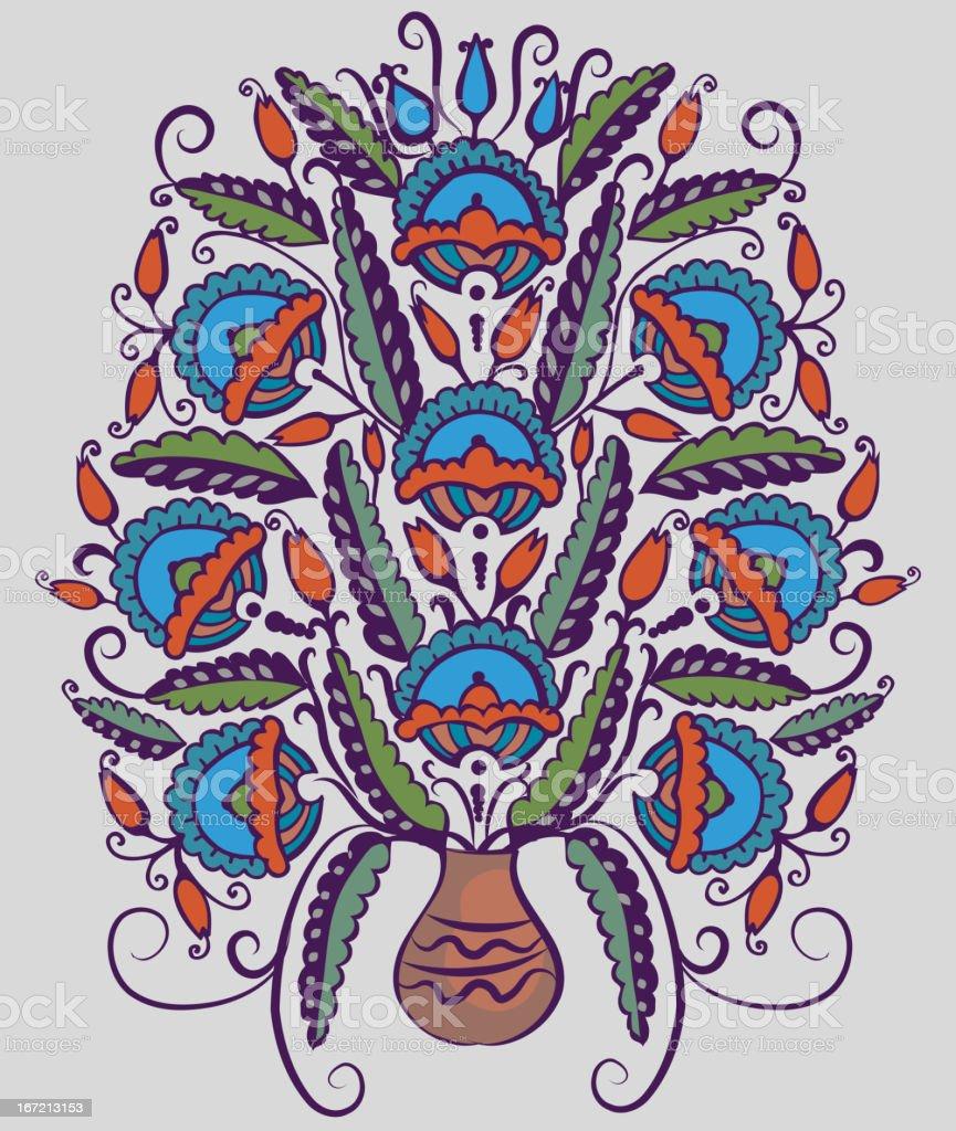 Folk pattern royalty-free stock vector art