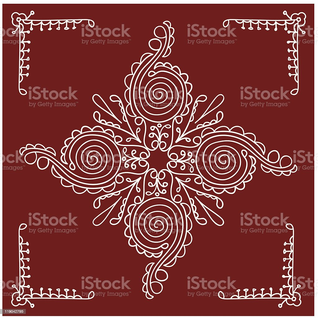 Folk, tribal Design vector art illustration