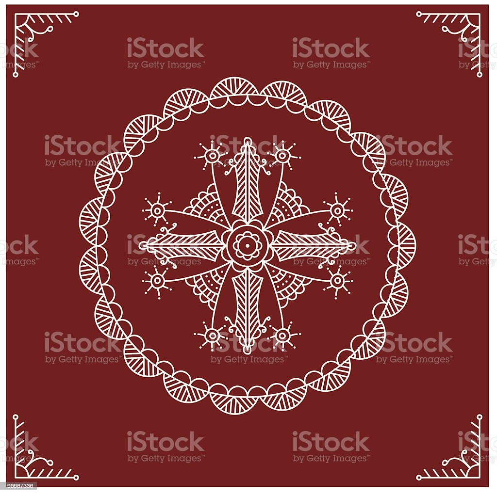 Folk tribal Design vector art illustration