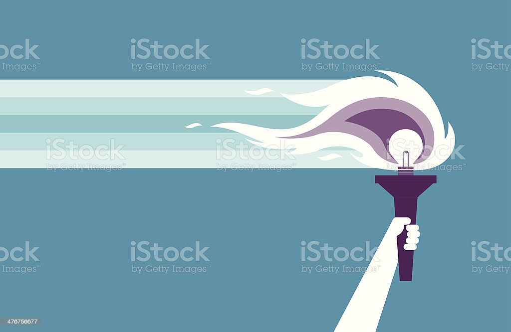 Follow me royalty-free stock vector art