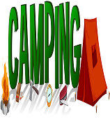 Font design with word camping