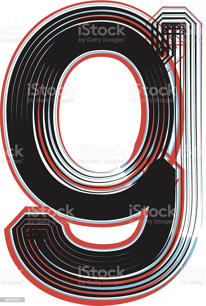 Font illustration letter g royalty-free stock vector art