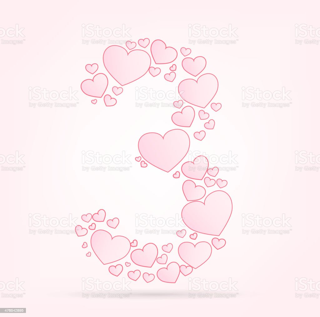 Font of hearts vector illustration royalty-free stock vector art