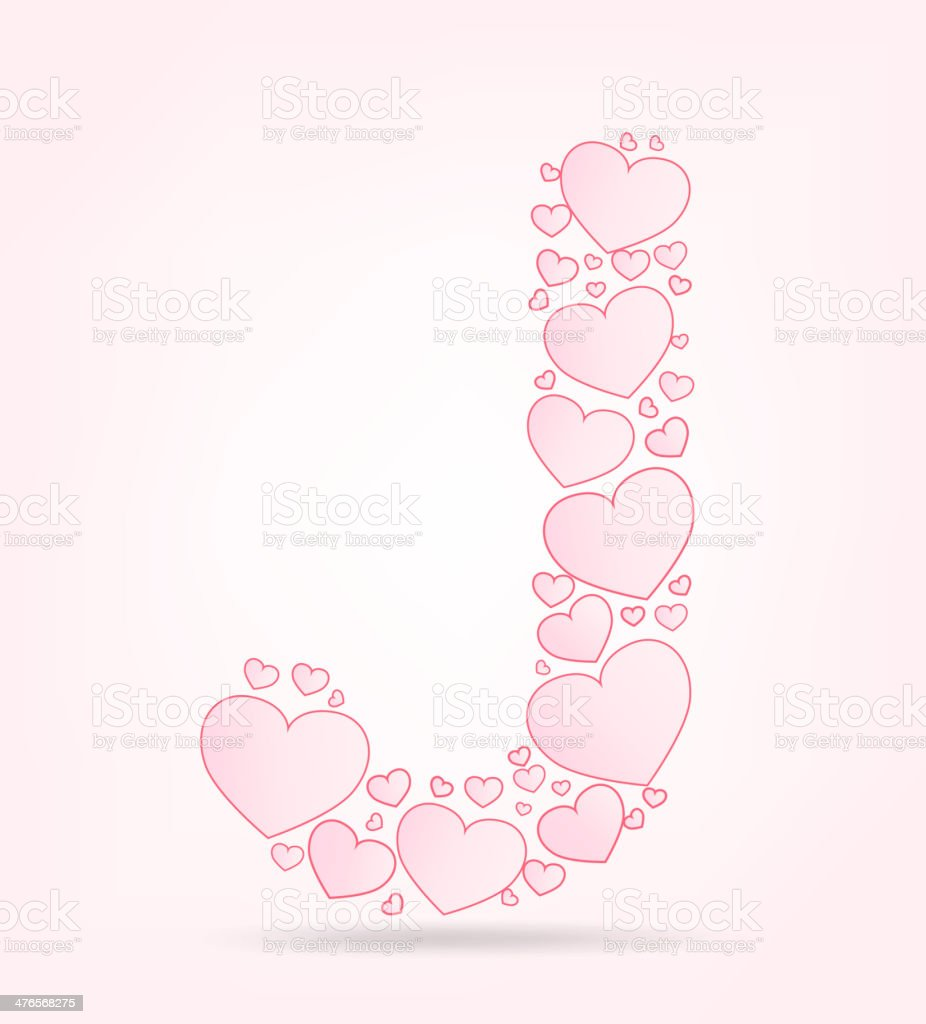 Font of hearts vector illustration royalty-free stock vector art