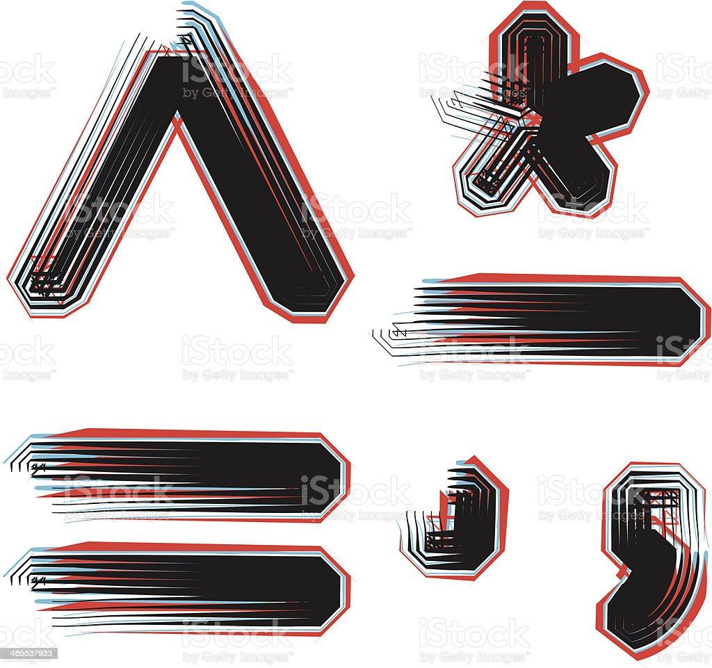 Font Symbol illustration royalty-free stock vector art