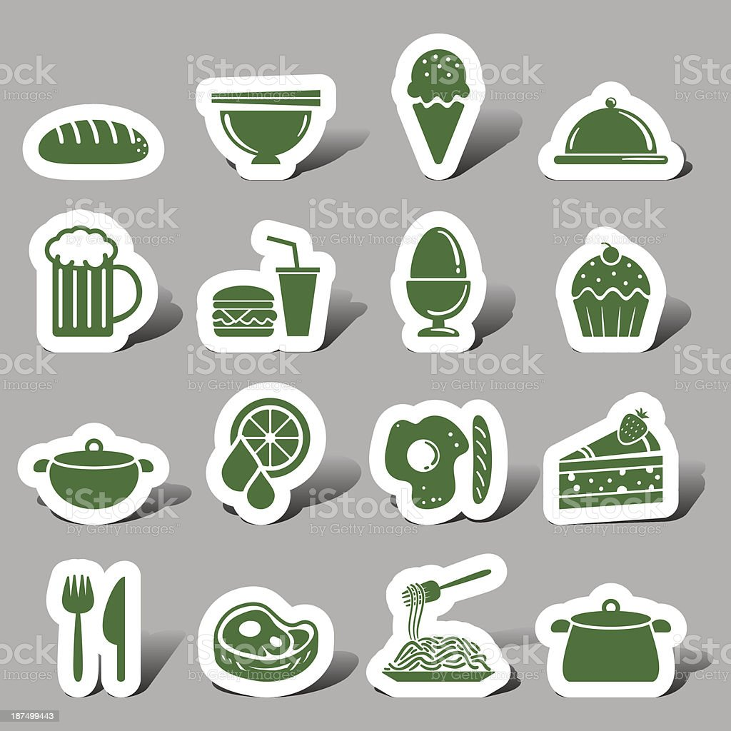 Food and beverage interface icon vector art illustration