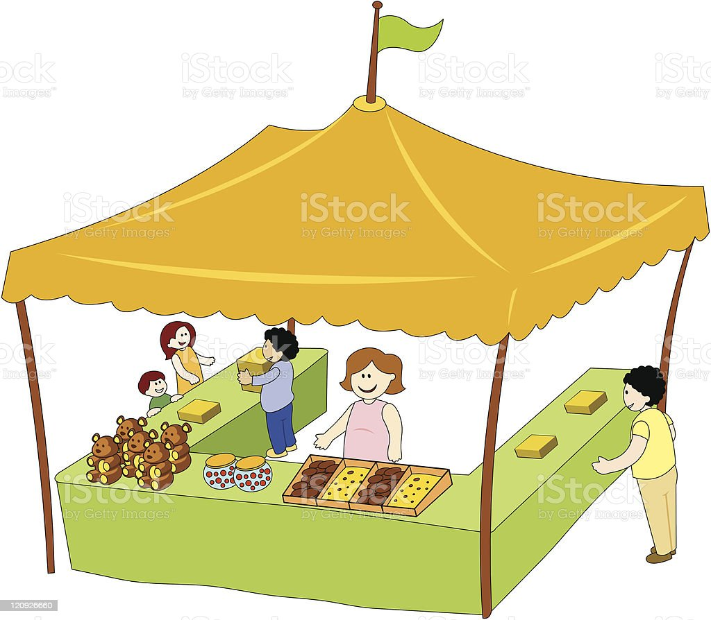 Food And Beverage Tent royalty-free stock vector art