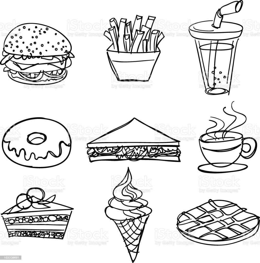 Food and Beverage_01 vector art illustration