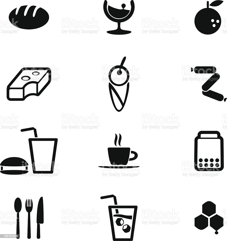 Vector File of Food and Drink Icon Set