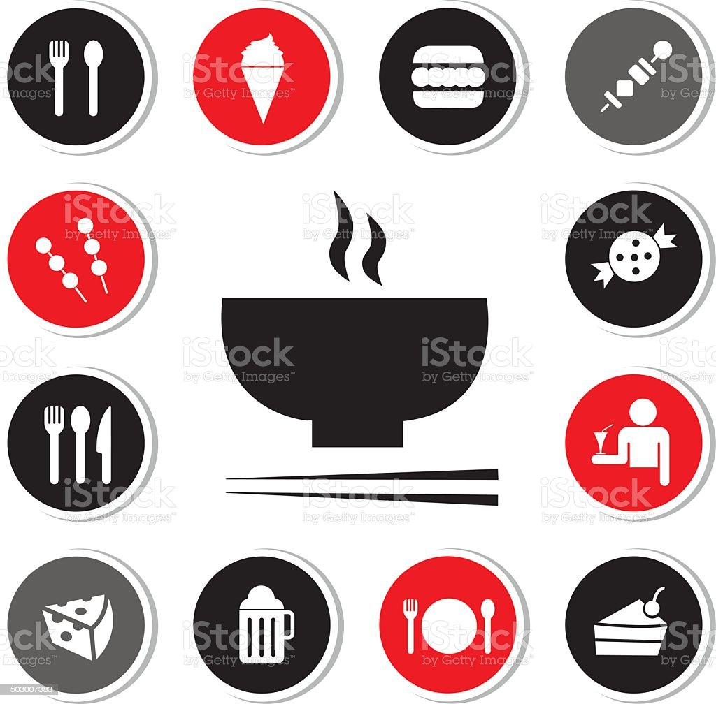 food and drink icon vector art illustration