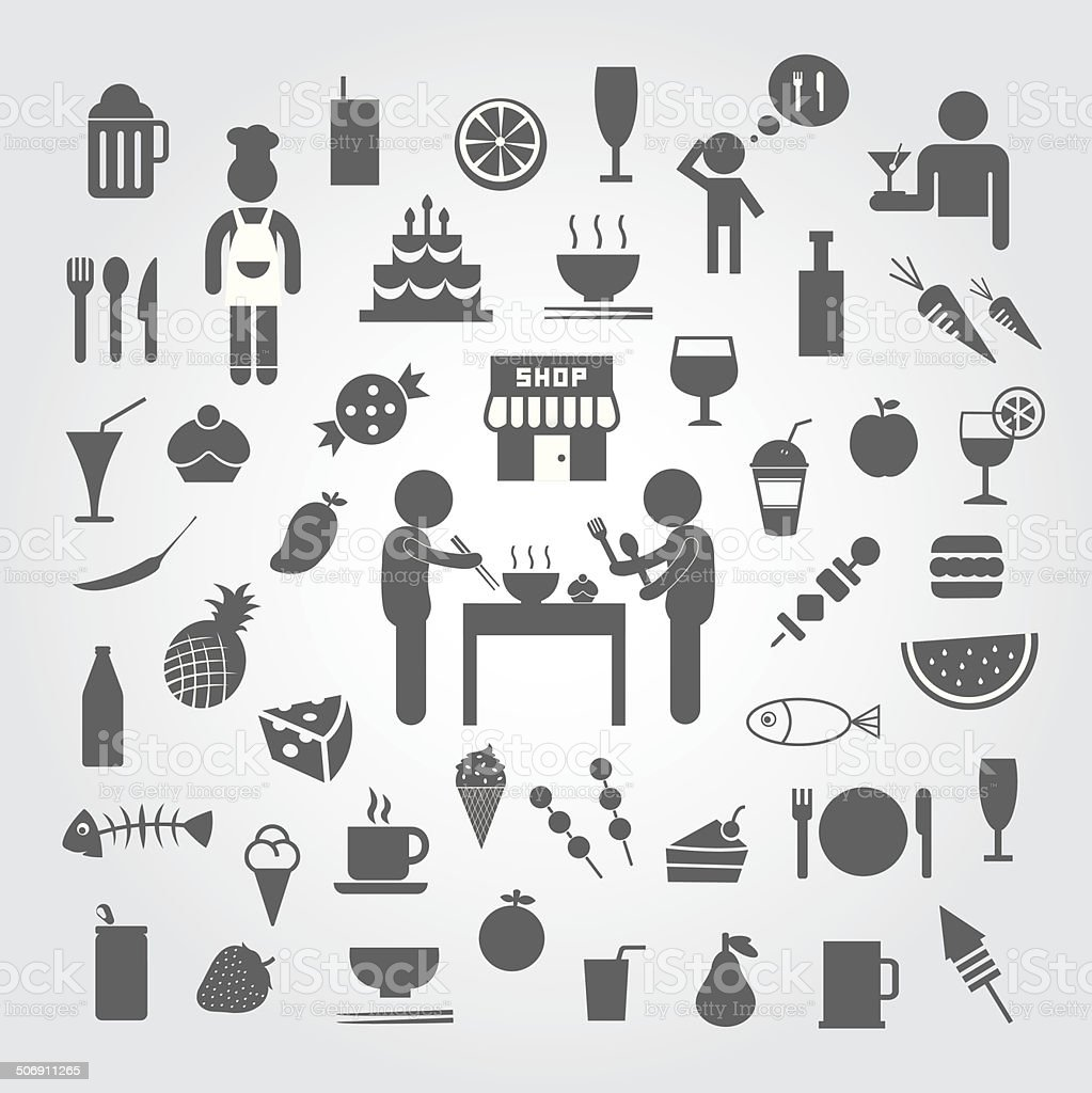 food and drink icon royalty-free stock vector art