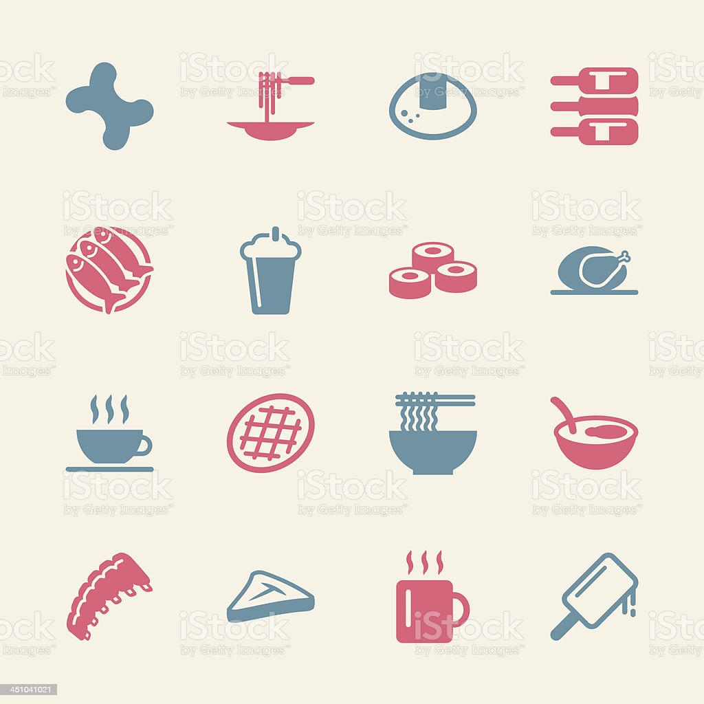 Food and Drink Icons 2 - Color Series | EPS10 royalty-free stock vector art