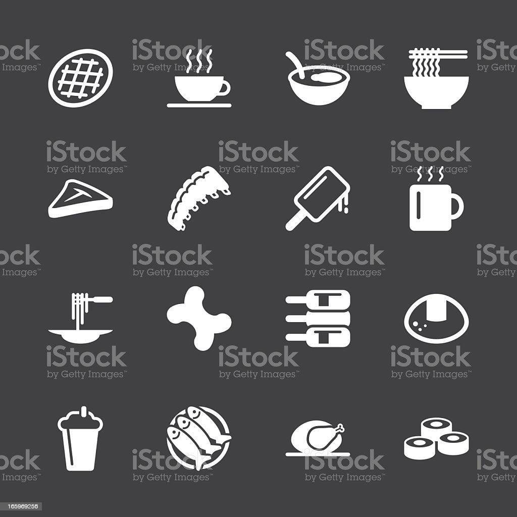 Food and Drink Icons 2 - White Series   EPS10 royalty-free stock vector art