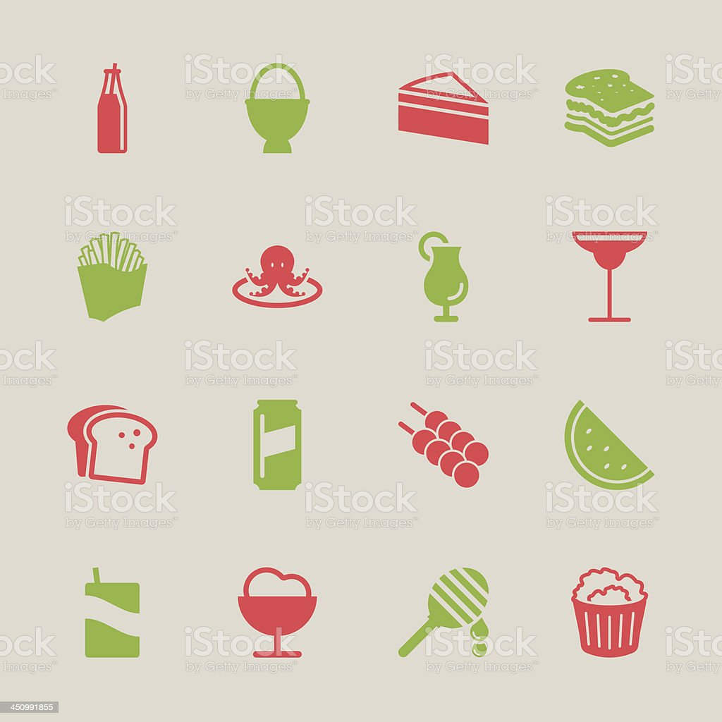 Food and Drink Icons 3 - Color Series | EPS10 vector art illustration