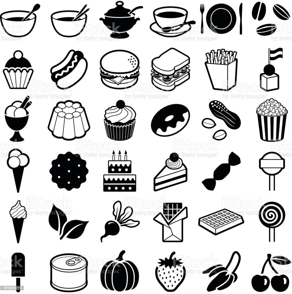 Food and Drink icon collection - vector illustration