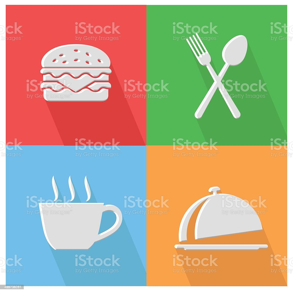 Food and drink icons,vector vector art illustration