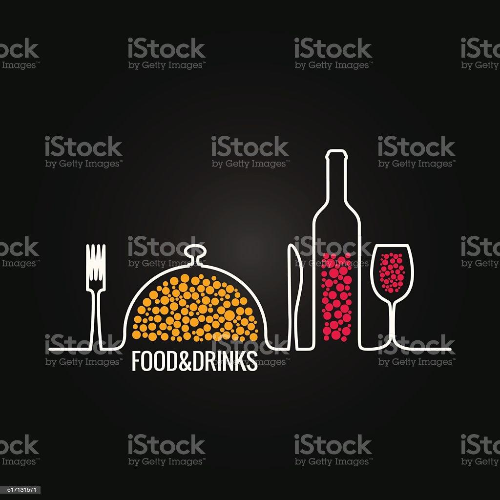 food and drink menu background vector art illustration