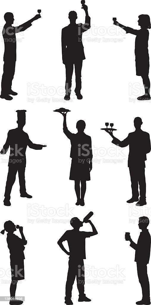 Food and Drink Silhouettes royalty-free stock vector art