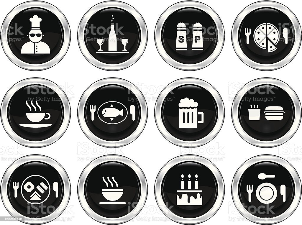 Food and Drink | The Blackest Icon Series royalty-free stock vector art