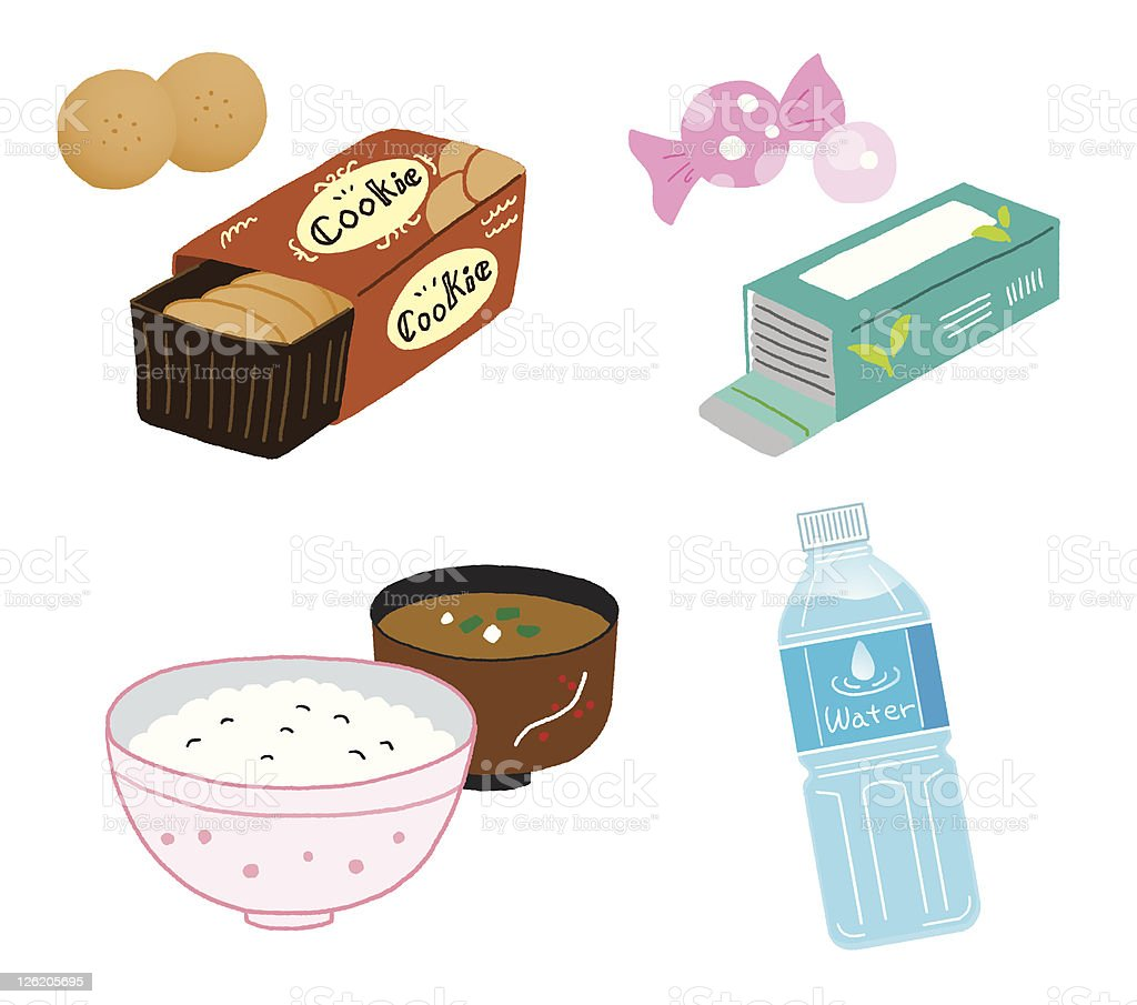 Food and drink vector art illustration