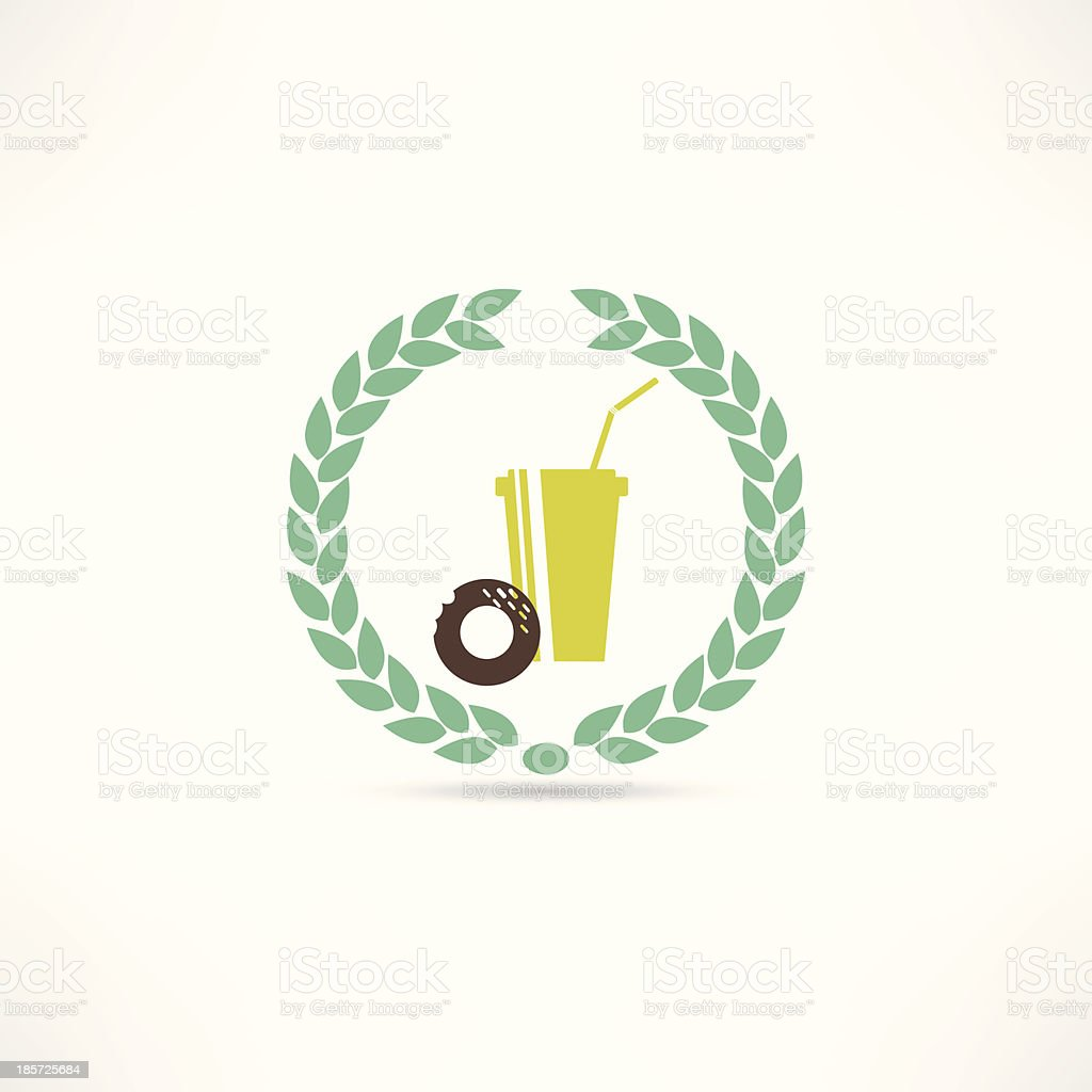 Food and drinks icon royalty-free stock vector art