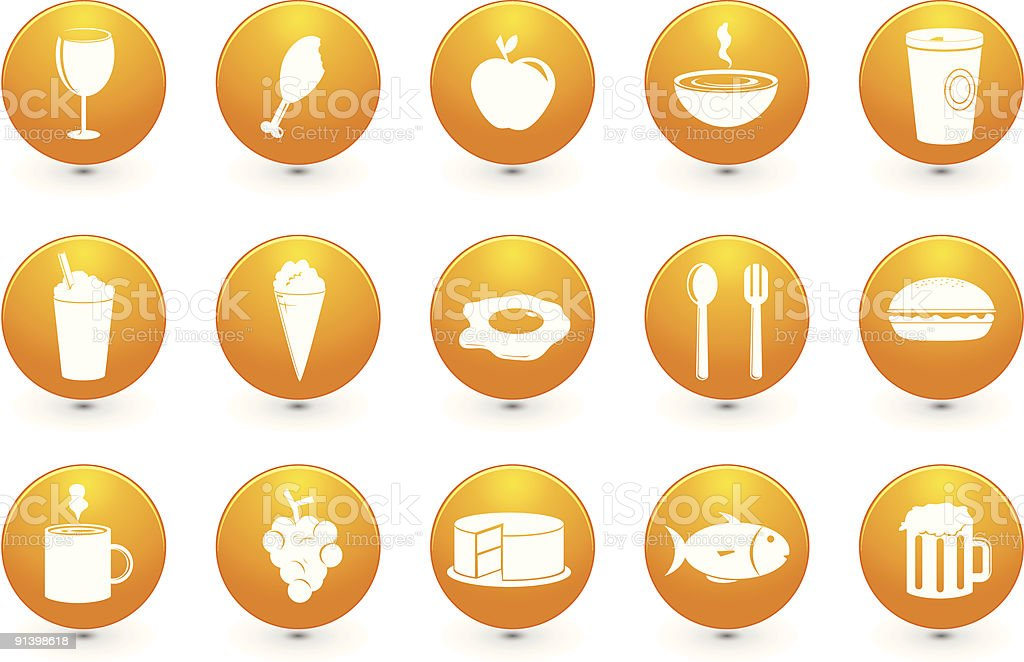 Food and Drinks icons royalty-free stock vector art