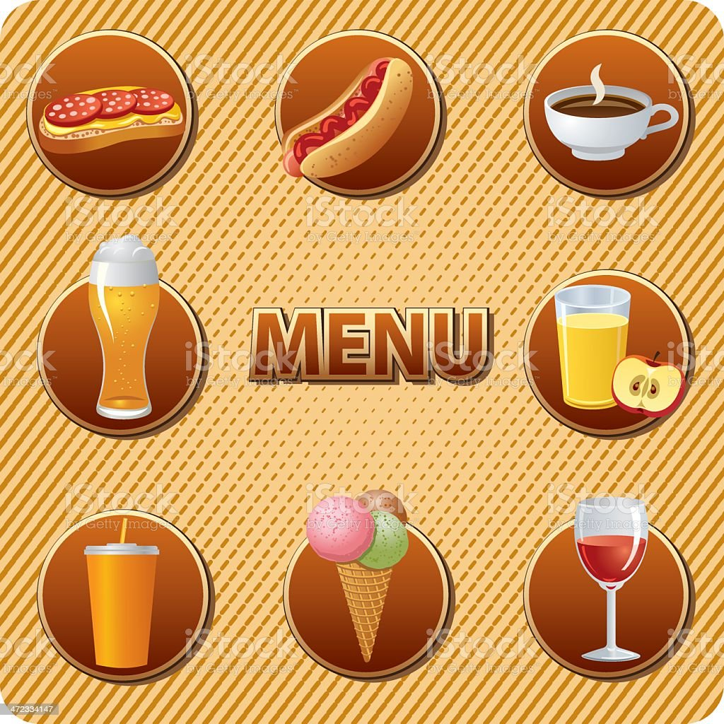 food and drinks menu royalty-free stock vector art