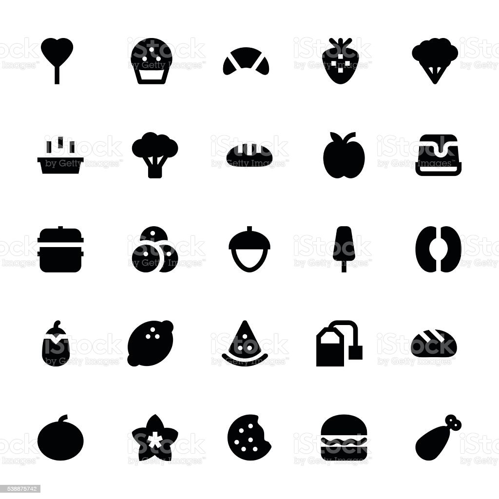 Food and Drinks Vector Icons 6 vector art illustration