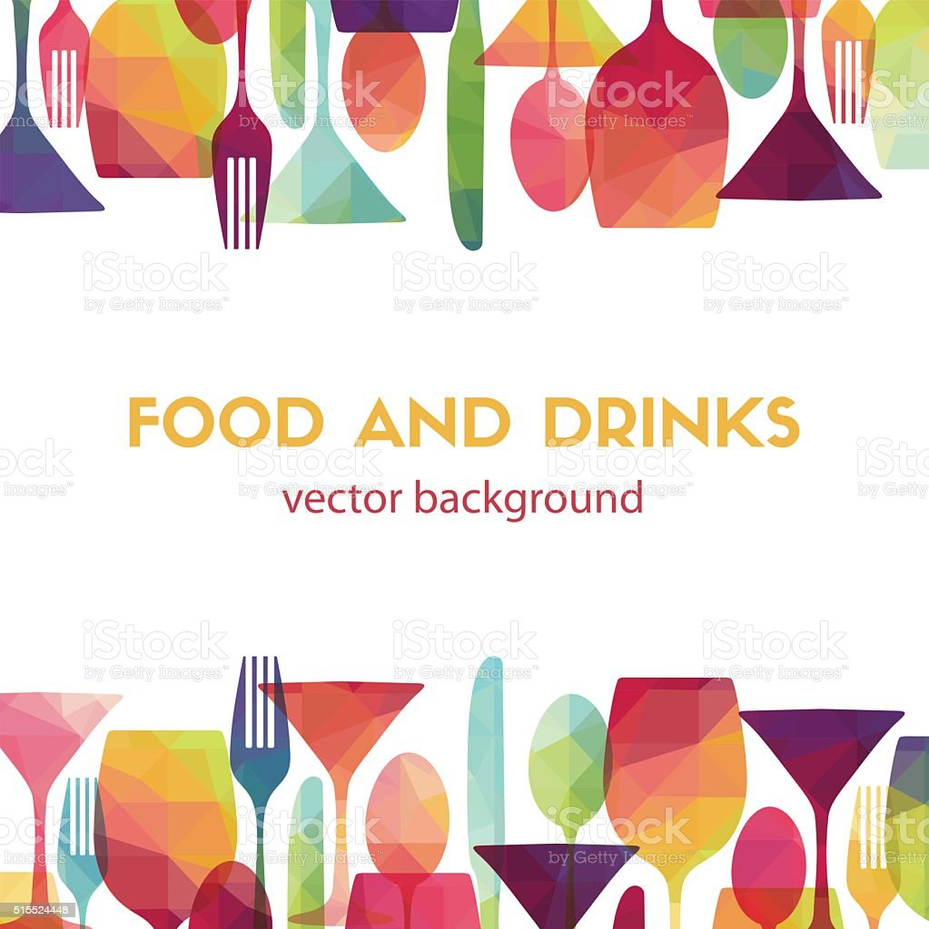 Food and drinks. Vector illustration vector art illustration