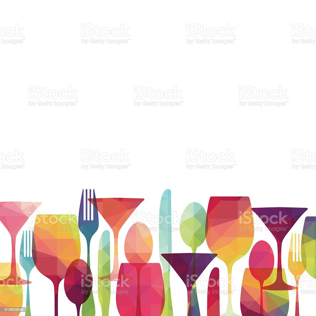Food and drinks. Vector illustration vector art illustration