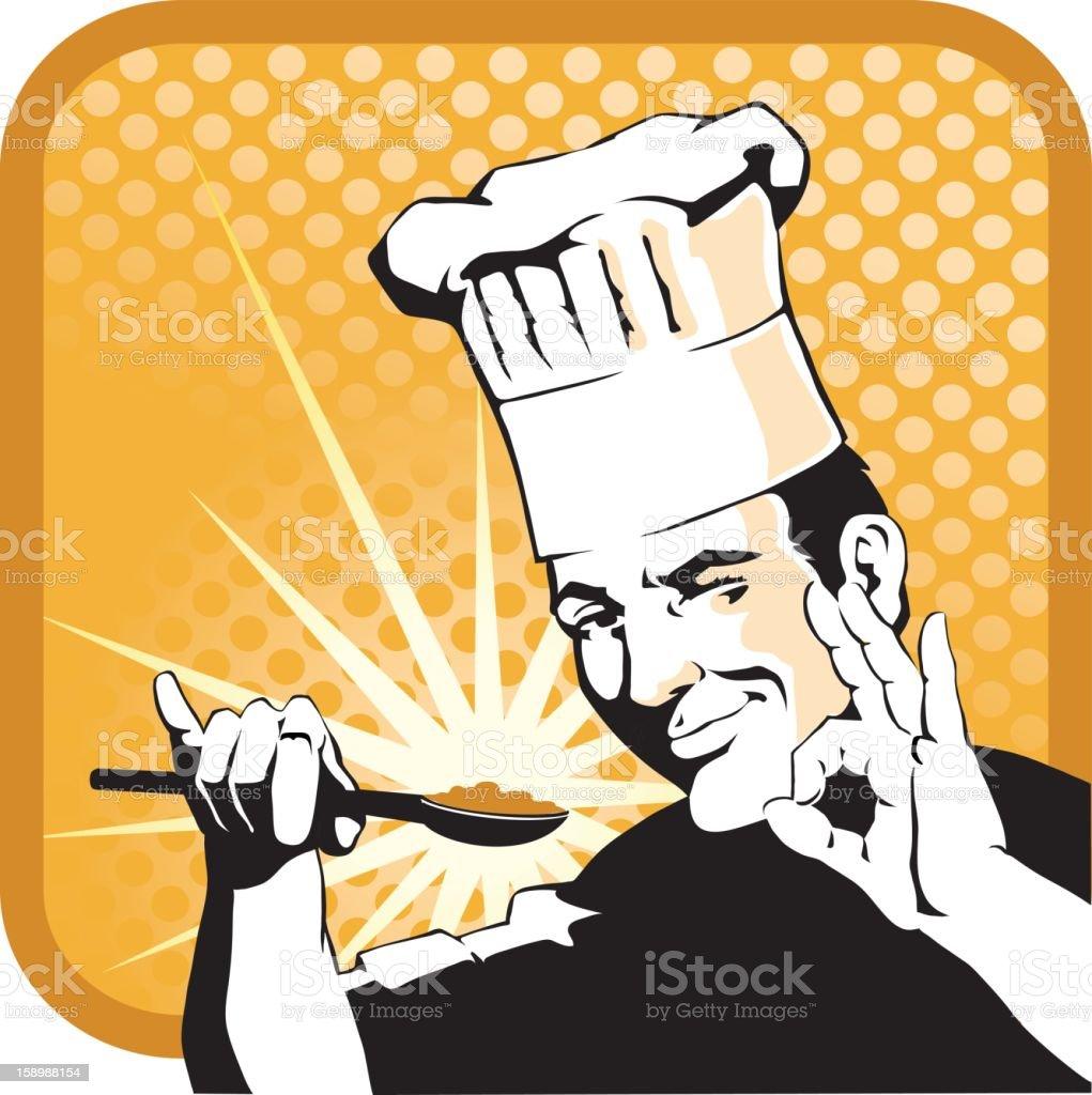 Food Approved by Chef royalty-free stock vector art